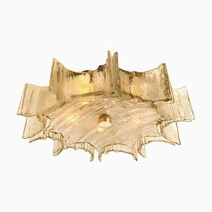 Large Star-Shaped Glass Flush Mount by J.T. Kalmar, 1960s