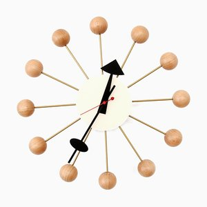 Natural Beech Ball Clock by George Nelson for Vitra