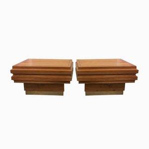 Tables de Chevet Vintage par Alvar Aalto, 1970s, Set de 2