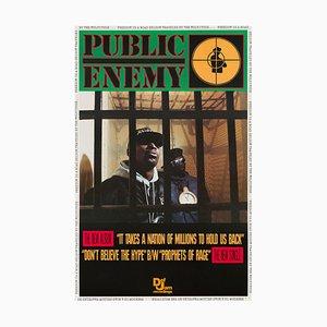 Vintage Public Enemy Poster, 1988