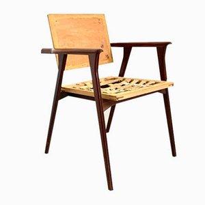 Modell Luisa Schreibtischstühle von Franco Albini für Poggi, 1950er, 2er Set