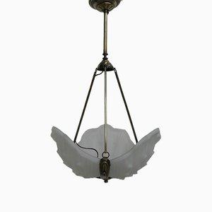 Art Deco Deckenlampe aus Opalglas, 1930er