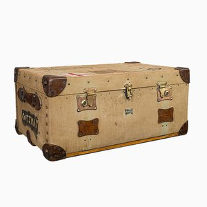 Antique Edwardian English Travel Case Trunk