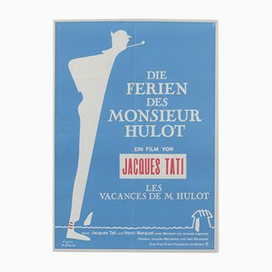 Vintage The Holidays of Monsieur Hulot Movie Poster by Petain, 1974