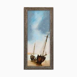 Maritime Beach Scene Oil Painting from David Chambers, 2019
