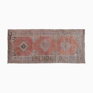 Vintage Distressed Oushak Runner Rug, 1970s