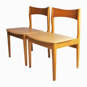 Mid-Century English Leatherette Dining Chairs, 1970s, Set of 6