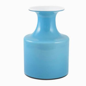 Vintage Blue Vase by Per Lütken for Holmegaard