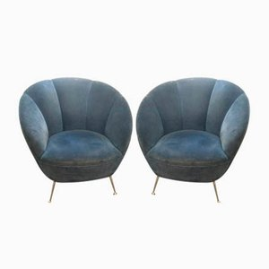 Mid-Century Lounge Chairs from ISA Bergamo, 1950s, Set of 2