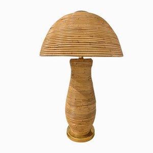 Mid-Century Tischlampen aus Korbgeflecht von Adrien Audoux & Frida Minet, 2er Set
