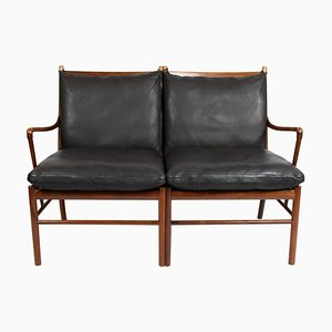 Rosewood Model OW149-2 Colonial 2-Seat Sofa by Ole Wanscher for P. Jeppesens Møbelfabrik, 1960s