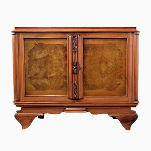 Small Mid-Century French Walnut Sideboard, 1960s