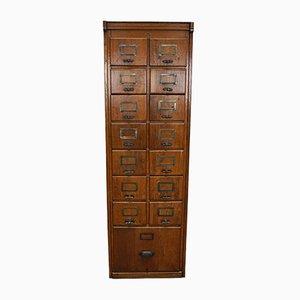 German Oak Filing Cabinet or Bank of Drawers, 1950s