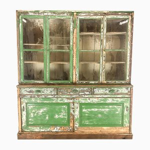 Vintage Painted Bookcase Cabinet
