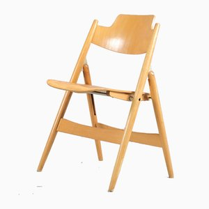 Beech Model SE18 Folding Chair by Egon Eiermann for Wilde+Spieth, 1960s