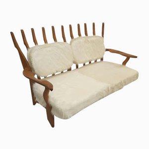 Eichenholz Sofa von Guillerme et Chambron für Votre Maison, 1960er