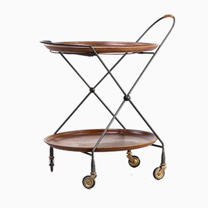 Foldable Metal Trolley from Åry Fanérprodukter Nybro, 1950s