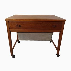 Danish Teak Sewing Cart, 1960s