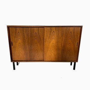 Danish Solid Rosewood Slide Door Cabinet from Hellerup, 1960s