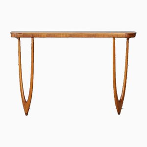 Mid-Century Oak Wall Console Table Attributed to Cesare Lacca