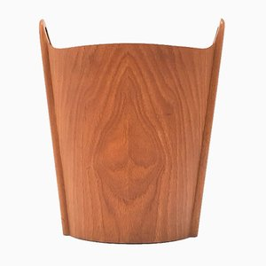 Teak Waste Paper Bin by Einar Barnes for Heggen, 1950s