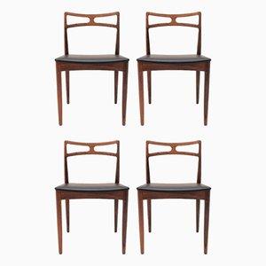 Palisander Modell 94 Esszimmerstühle von Johannes Andersen für Christian Linneberg, 1960er, 4er Set