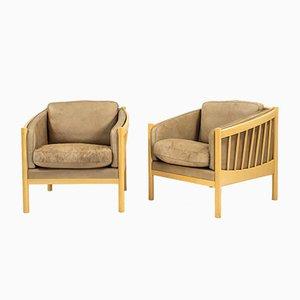 Dänische Vintage Armlehnstühle von Stouby, 2er Set