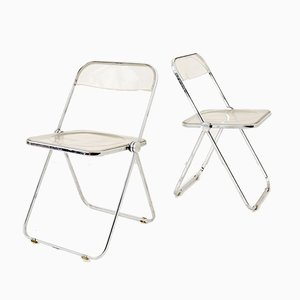 Italian Folding Chairs by Giancarlo Piretti for Castelli / Anonima Castelli, 1970s, Set of 2