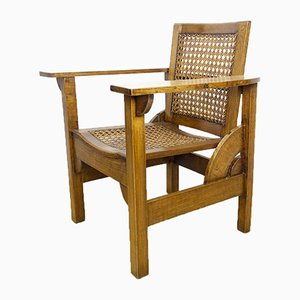 Spanischer Vintage Eichenholz Armlehnstuhl, 1930er