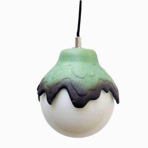 Lampe à Suspension en Céramique, Espagne, 1960s