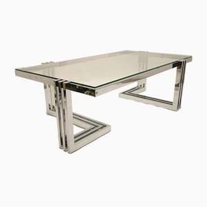 Space Age Chrome Design Coffee Table from Ilse Möbel, 1960s