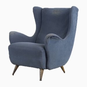 Mid-Century Italian Wing Chair from ISA Bergamo, 1950s