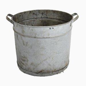 Large Vintage Galvanised Bucket Garden Planter