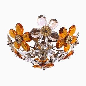 Florale Deckenlampe im Stil von Ernst Palme, 1960er