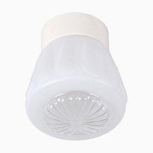 White Glass Ceiling Lamp, 1960s