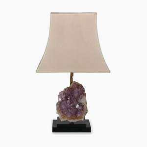 Belgian Amethyst Table Lamp in the Style of Willy Daro, 1969