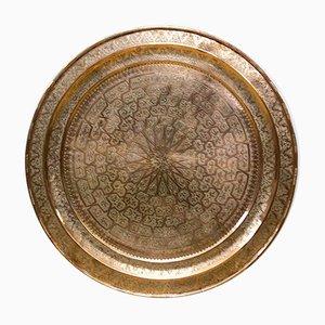 Großes Marokkanisches Kupfer Tablett, 1960er