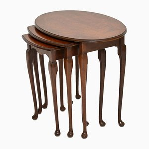 Burr Walnut Nesting Tables, 1920s