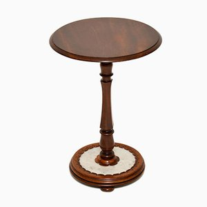 Antique William IV Mahogany & Marble Side Table