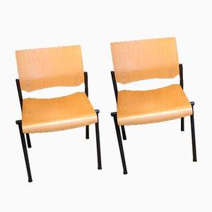 Stapelbare Schulstühle von Ahrend, 1960er, 2er Set