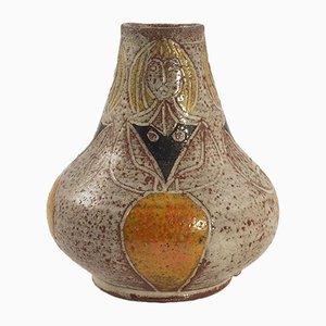 Kleine französische Mid-Century Keramik Vase von Accolay