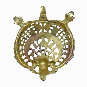 Art Nouveau Brass Fruit Bowl