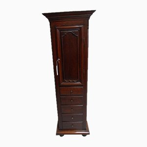 Antique One-Door Cabinet with Drawers
