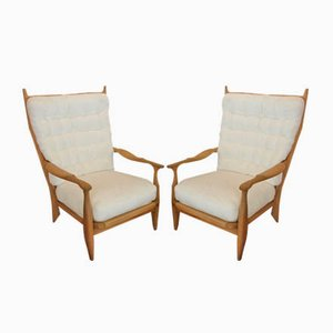 Lounge Chairs by Guillerme et Chambron for Votre Maison, 1960s, Set of 2