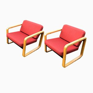 Bentwood Lounge Chairs by Aeon Mondial, 1960s, Set of 2