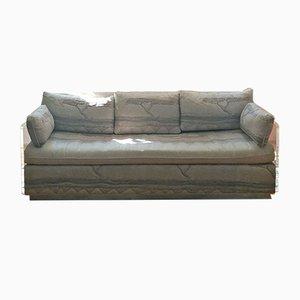 Amerikanisches Vintage Sofa-Bett aus Plexiglas & Japanischem Muster, 1970er