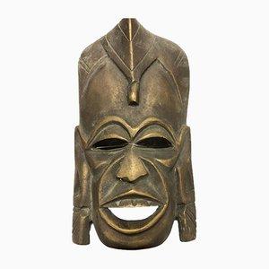 Afrikanische Mid-Century Maske aus Bronze
