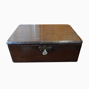 Antique Oak Jewelry Box