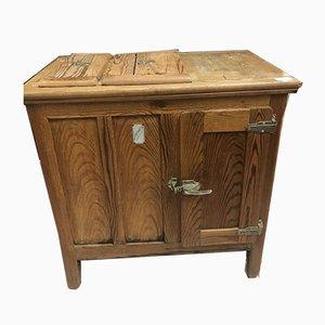 Vintage Oak Ice Box Refrigerator