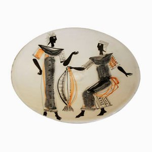 Ceramic Plate by Roger Capron, 1960s
